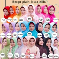 Jilbab Instant Serut Anak Miulan Bergo Plain Laura Kids Termurah