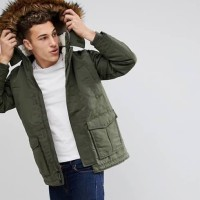 Hoolister Faux-Fur-Lined Jacket Olive