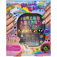 Mainan Kuku Palsu Magical Glow in the Dark Sticker Nail Unicorn Nails