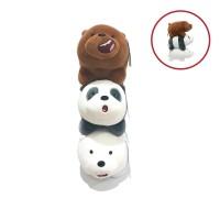 We Bare Bears Paket 3in1 9 Inch Stacking Plush / Boneka Beruang