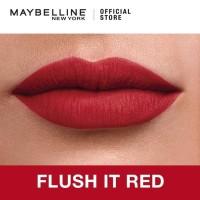Maybelline Sensational Liquid Matte Lipstick - Flush It Red 02 (Merah)