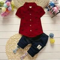 set hipp marun fashion anak baju 32654