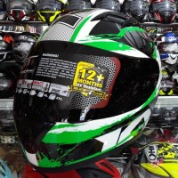 Helm KYT R10 motif#2 white/ Black/Green Fluo