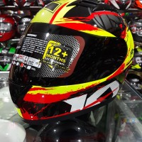 Helm KYT R10 motif #2 Yellow Fluo/ Black Red Fluo