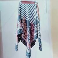 jilbab segi empat motif damai