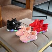 LKR020 REJECT Sepatu Sport Anak Laki-Laki Casual Bayi Lampu -LED Rusak