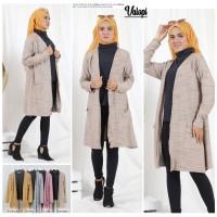Set Cardigan With Inner - Atasan Baju Wanita Outer Fit XL