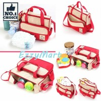Diaper bag Tas Perlengkapan bayi 5 IN 1 travelling bag multifungsi