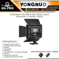 YONGNUO YN-300 III LED VIDEO LIGHT FREE BATTERY + CHARGER - YN300 III