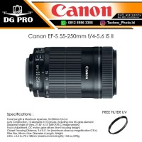 Canon EF-S 55-250mm f/4-5.6 IS II - Lensa Canon DSLR EOS