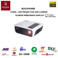 ROCKWARE TH80S - LED Full HD Projector 3000 Lumens with WiFi Mirroring