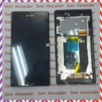 READY STOCK LCD SONY XPERIA Z C6602 COMPLITE TOUCHSCREEN BEZEL