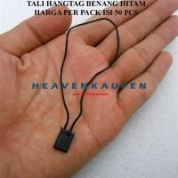 Tali Hangtag Label Loop Pin Lock Pin Benang Hitam Per pack isi 50 pcs