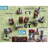 plus CT Potensio 50k Stereo Potensiometer 50 K B50K Tune volume