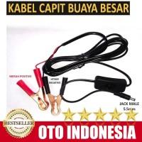Kabel Jumper Aki kabel Capit Aki + Saklar On OF Ujung Jack Male 5.5mm