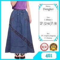 Rok Panjang jeans anak perempuan usia 5-10tahun kombinasi bordir