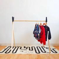 Clothing Rak Hitam - Rak Gantungan Baju Anak - Teepee Rak Scandinavian