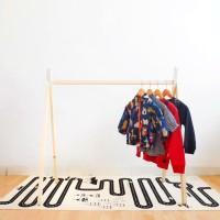 Clothing Rak Putih - Rak Gantungan Baju Anak - Teepee Rak Skandinavian