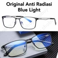 Kacamata Anti Radiasi komputer TV HP bahan Titanium blue Ray KS122