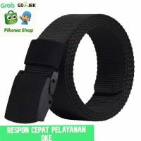 Tali Ikat Pinggang Hitam Bahan Kanvas Tebal // Belt / Sekolah /SD/ SMP - Hitam
