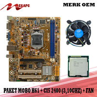 PROMO Paket Mainboard 1155 H61 Ddr3 + Core i5 2400 + Fan