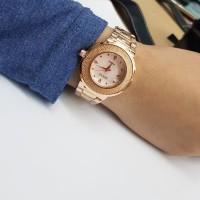 Jam Tangan Wanita Modis Krepyak Rantai Rantai Guess Rolex Gucci