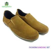 sepatu kasual pria bahan kulit asli harga murah