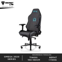 Secretlab OMEGA2020 Series Softweave Fabric Kursi Gaming-Charcoal Blue