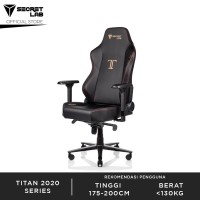 Secretlab TITAN 2020 Series PRIME PU Leather Kursi Gaming - Stealth