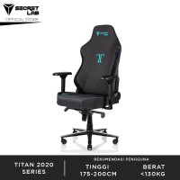 Secretlab TITAN2020 Series Softweave Fabric Kursi Gaming-Charcoal Blue