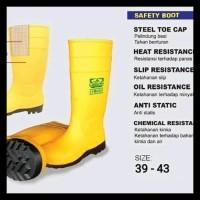 Terlaris Sepatu Boot Rubber Safety Legion Karet Ujung Besi Steel Toe