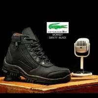Terlaris Sepatu Safety Boots Pria Crocodile Morisey Ujung Besi -