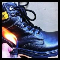Terlaris Sepatu Caterpilar Safety Kulit Sapi Asli + Ujung Besi