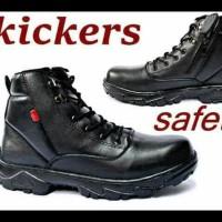 Terlaris Promo! Sepatu Kerja Proyek Murah Kickers Safety Ujung Besi