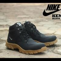 Terlaris Sepatu Pria Boots Nike Safety Steel Toe (Ujung Besi) - Hitam,