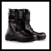 Terlaris Sepatu Safety Boot Pria Kickers Pdl Kulit Asli Ujung Besi -