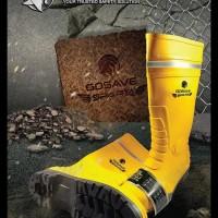 Terlaris Sepatu Boot Safety Pvc Gosave Steel Toe Ujung Besi Baja No 41