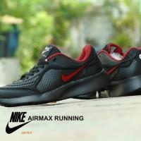 Sepatu Nike Airmax Running Hitam Merah Sport Casual Pria Sekolah⠀