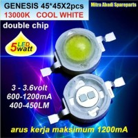 HPL 5W/High Power LED 5 Watt 2/Double Chips Genesis Cool White 13000K