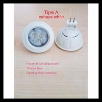H3Q Lampu Halogen Led 3W Sorot Spotlight Warm White E27 Mr16 / G4 Spot