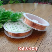 KAS401 Kawat Asesoris Uk. 0.6 warna tembaga muda (Per 1 Roll)