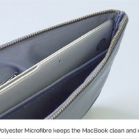 Monocozzi Posh Sleeve For Macbook Air 11-12 inch - Dark Blue onderd
