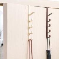 Door Hook 5 hanger Gantungan Pintu baju topi tas handuk tanpa paku ABS