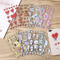 MB28 Stiker Aimi Kpop BTS BT21 / Sticker DIY Bubble 3D Kpop BTS BT21