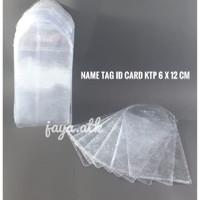 PLASTIK TEMPAT PELINDUNG KTP ID CARD 6X12 CM PLASTIK ID CARD NAME TAG