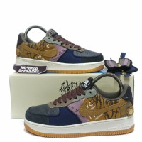 Sepatu Sneakers Nike Air Force 1 Low X Travis Scott Cactus Jack BNIB