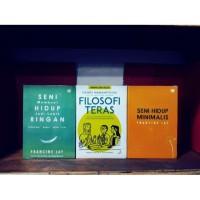 Paket 3 buku motivasi hidup minimalis filosofi teras seni hidup ringan