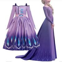 Kostum Elsa Purple Frozen 2 Princess CG66