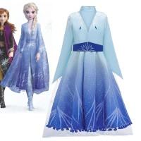 Baju Frozen Elsa 2 (hanya luaran) / Kostum Elsa Frozen 2 Princess CG63