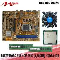 PROMO Paket Mainboard 1155 H61 Ddr3 + Core i5 2500 + FAN + RAM 4GB